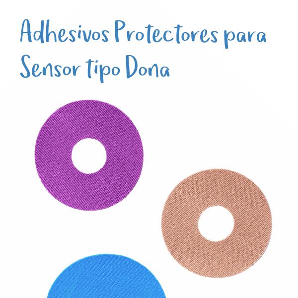 Protectores Adhesivos para Sensor Freestyle Libre tipo Dona x 5 unidades