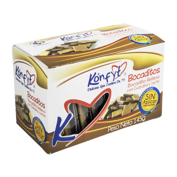 Bocaditos (relleno de guayaba y leche) Konfyt Caja x 145grs