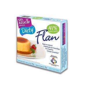 Flan con Caramelo Diety Caja x 11 g.
