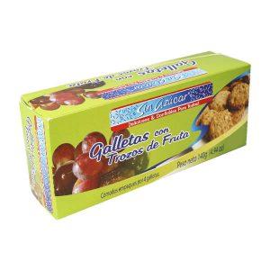 Galletas con Trozos de Frutas Sin Azucar Caja x 140grs