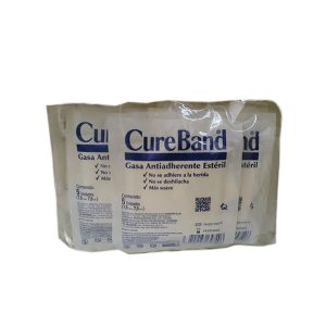 Gasa Antiadherente CureBand Sobre x 5 Und - 7,5x7,5 cm