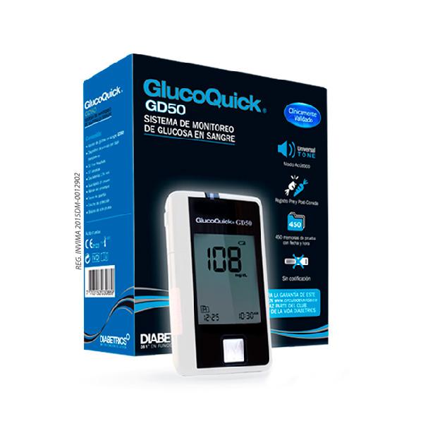 Glucómetro GlucoQuick GD50