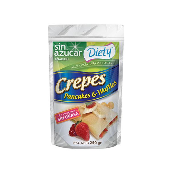 Mezcla Crepes Pancakes & Waffles Diety Bolsa doy pack x 250 g.