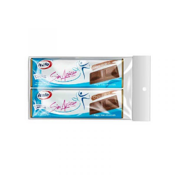 Chocolatina sin azúcar BX 2 92grs