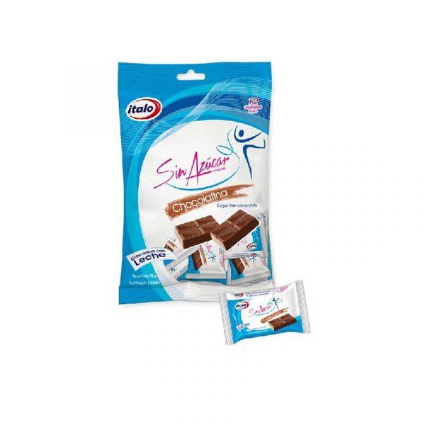 Chocolatina sin azúcar BX12 72grs