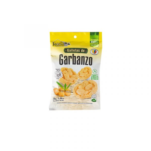 Galletas de garbanzo sabor natural