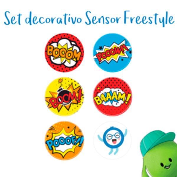 Set decorativo sensor freestyle libre