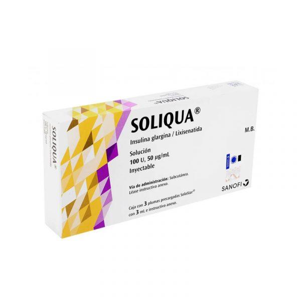Soliqua 10 40 insulina glargina 100u ml lixisenatida 33 ug ml amarilla
