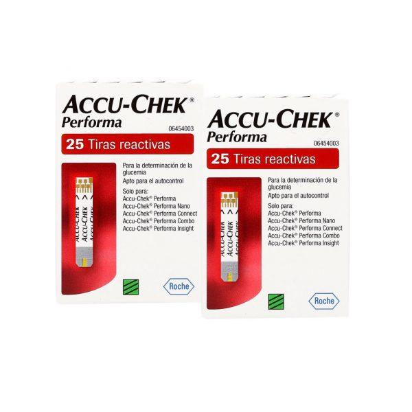 Accu chek perfoma 25 strips 2X1