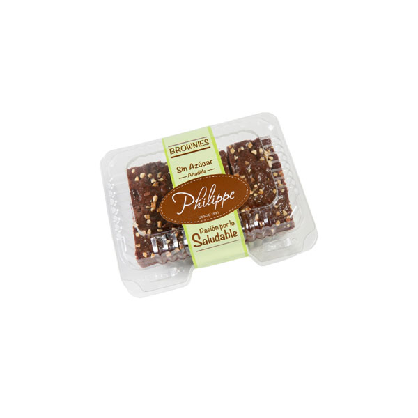 Brownies de chocolate sin azucar añadida Caja x 6 porciones