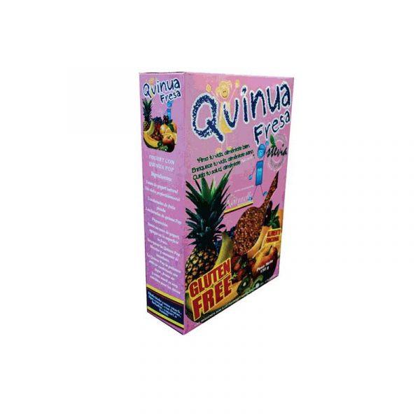 Quinua pop con stevia sabor fresa 150gr