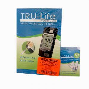 Glucometro TRU-LIFE 60 tiras -60 lancetas